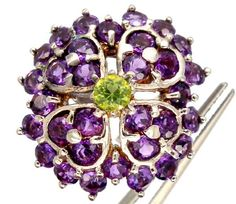 AMETHYST  SILVER RING   38.80 CTS  SIZE- 7.50   RJ-213  mixed gemstone ring , gemstone ring , ring size , silver gemstone ring , sapphires, ruby , emerald, citrine, diamonds, amethyst