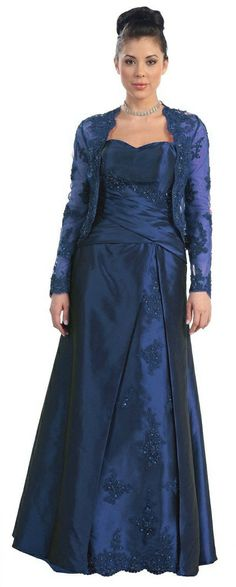 c93851ed172 Plus size mother of bride   groom navy blue prom dresses Mother Of The Bride  Gown