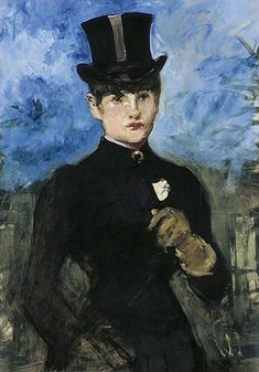 Édouard Manet Horsewoman, Fullface ca. 1882 Oil on canvas. 73 x 52 cm Museo Thyssen-Bornemisza, Madrid Renoir, Edouard Manet, Post Impressionism, Impressionist Art, Claude Monet, List Of Paintings, Paul Cézanne, Berthe Morisot, Paul Gauguin