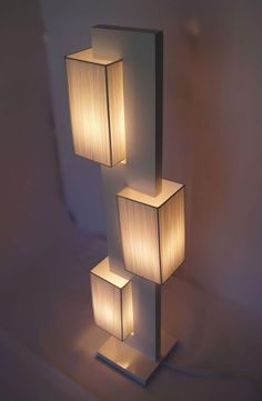 37 Cheerful Diy Wooden Lamp Designs To Spice Up Your Living Space - Lighting has become a more prominent feature in rooms for interior design these days, with many showing interest in lamps, classical and innovative. Unique Floor Lamps, Wooden Floor Lamps, Wooden Lamp, Wooden Diy, Diy Floor Lamp, Wooden Boxes, Modern Lighting Design, Home Lighting, Club Lighting