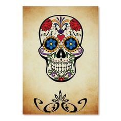 East Urban Home Graphic Design Of Horror Skull Graphic Art Size: