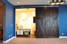 how to make barn doors for inside your house.  love it.