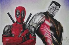 #Deadpool #Fan #Art. (Deadpool and Colossus) By: AdrianoAltamir. ÅWESOMENESS!!!™ ÅÅÅ+