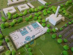 Modell des geplanten Wasserlands.