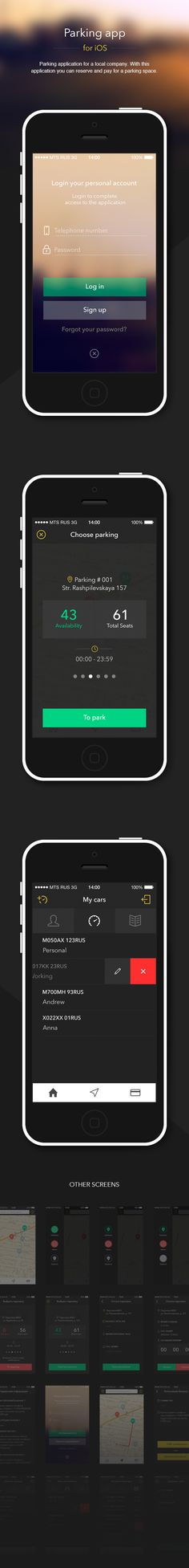 Parking app iOS on Behance