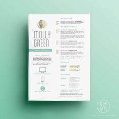Reprendre CV Modèle Lettre Design for Parole par OddBitsStudio