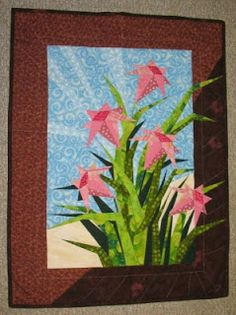 Paper Pieced Day Lily Wall Hanging