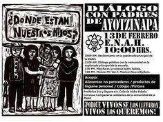 México: Diálogo con Padres de Ayotzinapa en la Escuela Nacional de Antropología e Historia, 13-02-2015, 10 a 19 hrs