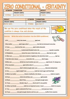 Zero Conditional interactive and downloadable worksheet. Check your answers online or send them to your teacher.