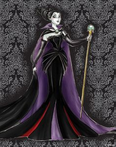 Disney Villains Designer Collection Sketch Art, Maleficent from Sleeping Beauty. Disney Fan Art, Gif Disney, Arte Disney, Disney Dream, Disney Style, Disney Love, Disney Magic, Heros Disney, Disney Villains