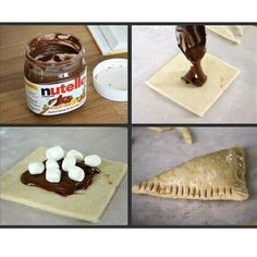 For all the Nutella addicts out there! Throw it in the oven for a few minutes and taste heaven :)