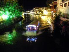 Melaka River at night - Malacca, Malaysia