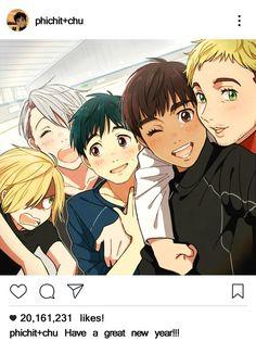 Um why is Yuri's hair green?