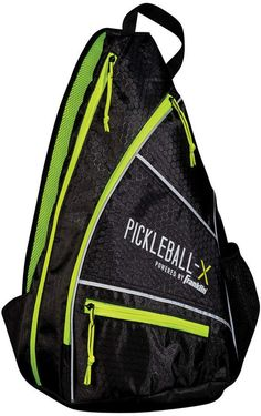 Franklin Sports Pickleball-x Elite Performance Sling Bag - Official Bag Of  The Us Open (Black Optic Yellow) 7ad0a98c5a5f5