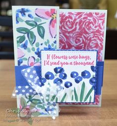Stampin' Up! Garden Impressions Suite - Abstract Impressions Stamps, Springtime Impressions Thinlits, and Garden Impressions designer paper