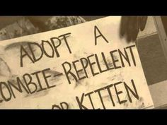 Adopt a Zombie-Repellent Kitten at a shelter near you. What a clever way to promote pet adoption!