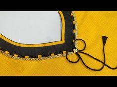 Very stylish kurti neck design making – dressideas Chudithar Neck Designs, Neck Designs For Suits, Neckline Designs, Dress Neck Designs, Salwar Suit Neck Designs, Kurta Neck Design, Saree Blouse Neck Designs, Salwar Designs, Mehndi Designs
