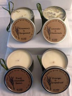 Soy Aromatherapy Candles with Pure Essential Oils and by LibbyBs, $10.00