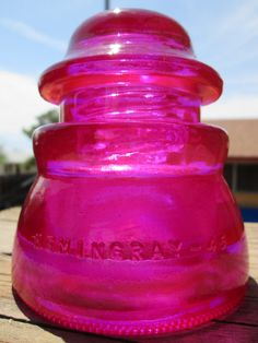 Beautiful Hemingray 45 Hot Pink Glass Insulator Colored or Stained CD 155 Vintage Bottles, Bottles And Jars, Mason Jars, Electric Insulators, Glass Insulators, Small Space Interior Design, Isolation, Fenton Glass, Glass Blocks