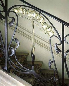 Art Nouveau - Rampe d'Escalier Maison Bergeret - Louis Majorelle - 1903   JV