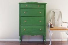 Tall, Hand Painted Green Antique Dresser on Etsy, $500.34 AUD