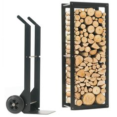 Black Iron Indoor Firewood Storage Rack With Black Cart With Log Length Firewood  Also Firewood Storage Shed Plans A Simple Solution