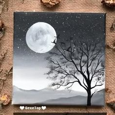 Beautiful acrylic painting video tutorial Part 22 - acrylic painting beautiful tutorial .Beautiful acrylic painting video tutorial Part 22 - acrylic painting beautiful tutorial video - newBeautiful Simple Canvas Paintings, Small Canvas Art, Easy Canvas Painting, Diy Canvas Art, Sky Painting, Rock Painting, Easy Acrylic Paintings, Thumb Painting, Sunset Painting Easy
