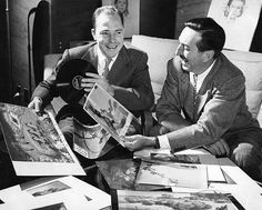 """""""Song of the South"""" was a departure from the European fairytales that had been the subject of Disney's previous films. Walt Disney told singer Johnny Mercer (left) that he had first heard the Uncle Remus stories as a boy, """"And since then they've been one of my favorites."""" Credit: Georgia State University"""