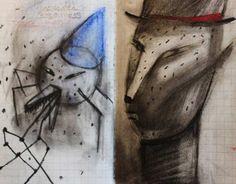 Stills from animation, Batmen & Bow Ties series, 2012 © Wendell McShine