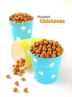 Crispy roasted chickpeas (garbanzo beans) | Food-4Tots | Recipes for Toddlers ---> R.Q.: I tried the author's recipe (on page 2), and my son likes these a lot. They make a good snack for adults too. They do get a little dry when reheated though.