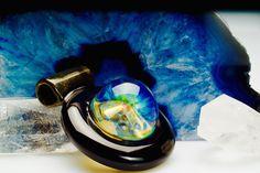 "ID Glass ""Honeycomb Fume"" Pendant $ 200"