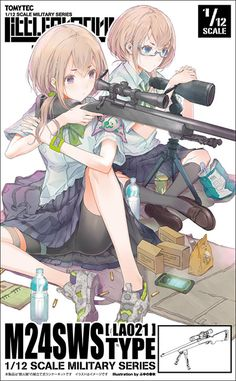 Little Armory Type (Plastic model) Anime Military, Military Girl, Chica Anime Manga, Anime Art, Character Art, Character Design, Cyberpunk Anime, Anime Weapons, Weapon Concept Art