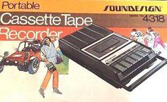 Vintage Soundesign 4318 Portable Cassette Tape Recorder new open box #Soundesign