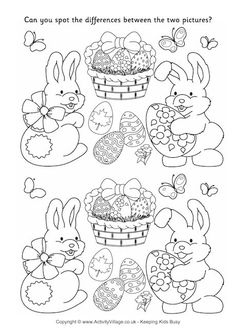 Easter spot the difference