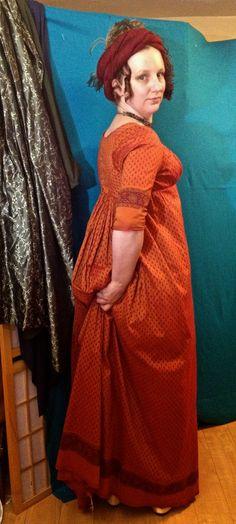 The Laced Angel: Regency Ridiculousness Regency Dress, Regency Era, Empire Fashion, Annex, Empire Style, Lovely Dresses, Orange, Spice, Sari