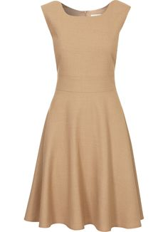 Camel A-Line Flannel Dress Fashion Face, Love Fashion, Fashion Outfits, Simple Dresses, Casual Dresses, Short Dresses, Dress And Heels, Dress Me Up, Flannel Dress