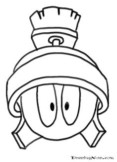 marvin the martian christmas coloring pages | Super Sized Heart Outline - Extra Large Printable Template ...