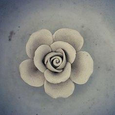 Clay flowers - nice!