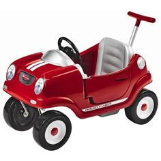 Radio Flyer Steer Stroll Coupe ($130) ❤ liked on Polyvore featuring baby, toys, baby stuff, baby things and baby boy