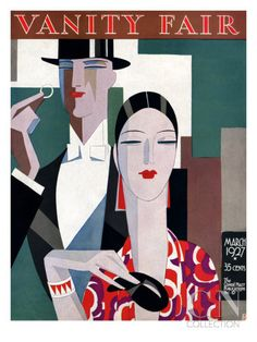 Vanity Fair Cover - March 1927 Poster Print by Eduardo Garcia Benito at the Condé Nast Collection