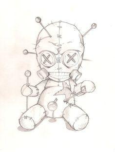 Voodoo Doll 2 by joebananaz Tattoo Flash Art ~A.R.