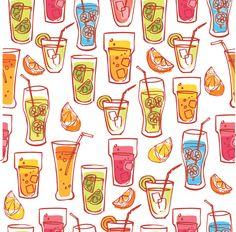 Drinks & beverages - coffee tea beer wine by Ohn Mar Win, via Behance