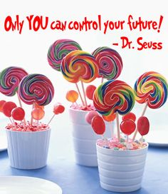 Dr Seuss Quote 'Only You Can Control Your Future' by InitialYou, $6.95