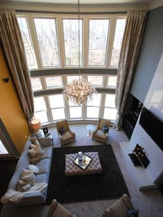 Chic Design  - Yellow & Gray Contemporary Living Room on HGTV