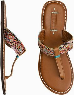 Roxy Mykonos Sandals~These could be really super cute BOHO Decorated~ Cute Sandals, Cute Shoes, Flip Flop Sandals, Me Too Shoes, Shoes Sandals, Heels, Flip Flops, Sock Shoes, Shoe Boots