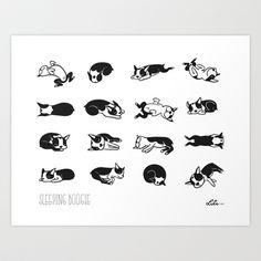 Sleeping Boogie Art Print by Lili Chin - $17.00