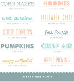 Free Fonts Haul Vol. 3 @ little white whale  ~~ {10 free fonts w/ easy download links}