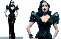 Dita Von Teese 3D printed dress - new era?