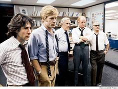 All the President's Men, with Dustin Hoffman, Robert Redford, Jason Robards, Jack Warden and Martin Balsam, 1976