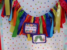 Very Hungry Caterpillar Highchair Banner/ Photo Prop. $25.00, via Etsy.